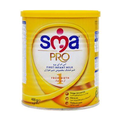 شیر خشک اس ام ای پرو ۱ | ۴۰۰ گرم | از بدو تولد تا ۶ ماهگی