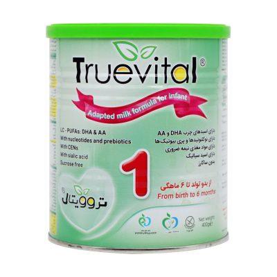 شیر خشک تروویتال ۱ | ۴۰۰ گرم | مناسب از بدو تولد تا ۶ ماهگی