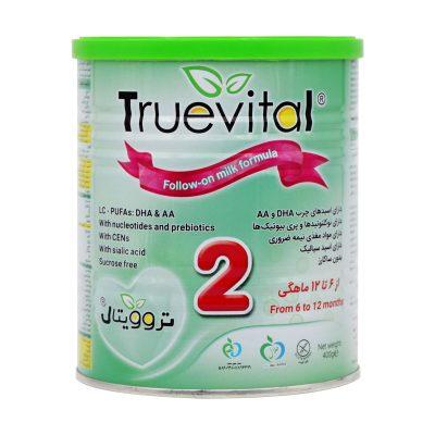 شیر خشک تروویتال ۲ | ۴۰۰ گرم | مناسب از ۶ تا ۱۲ ماهگی