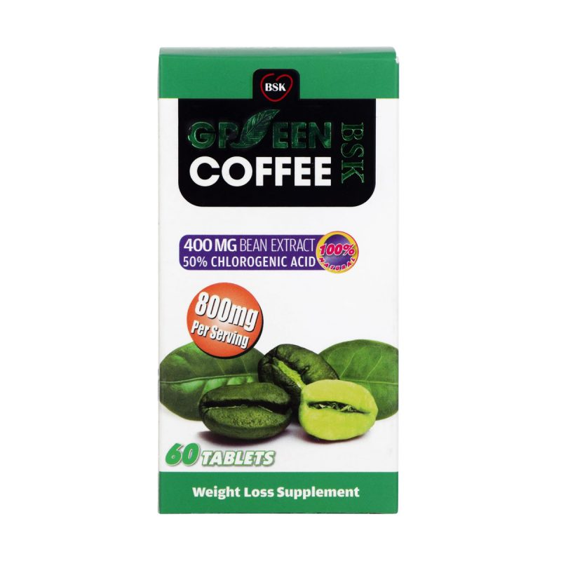 قرص قهوه سبز بی اس کی 60 عدد