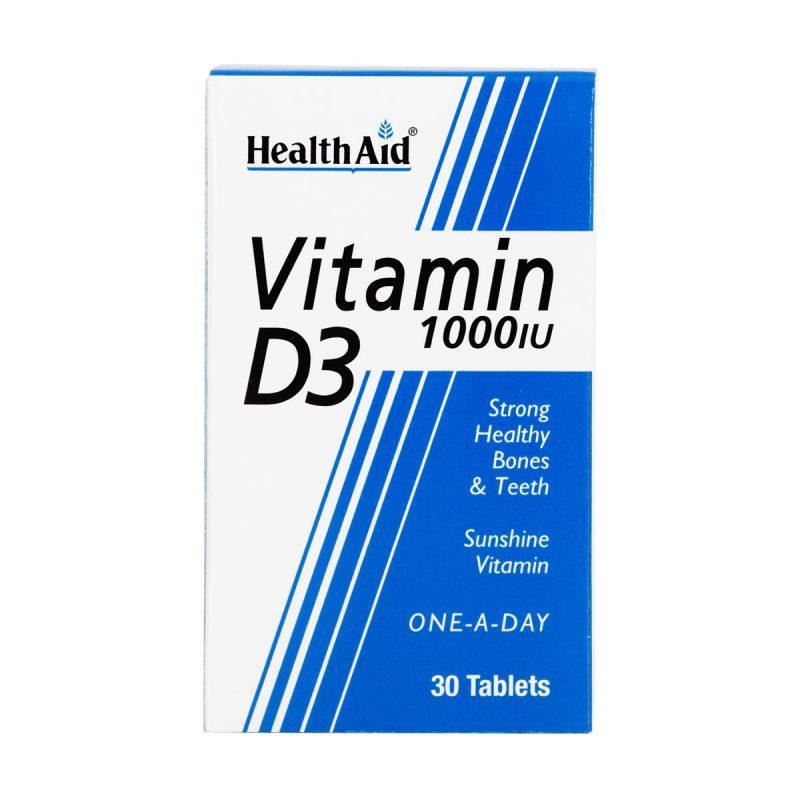 قرص ویتامین D3 1000 هلث اید 30 عدد