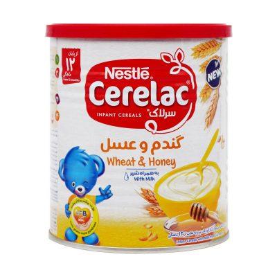 پودر سرلاک گندم و عسل به همراه شیر نستله | ۴۰۰ گرم | مناسب برای بعداز ۱۲ ماهگی