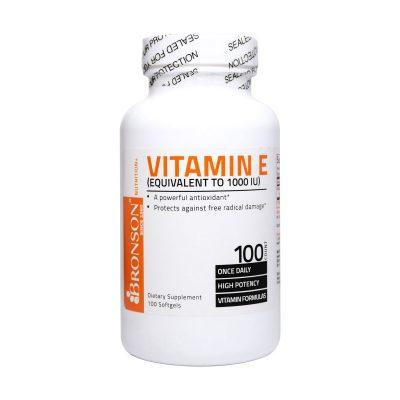 سافت ژل ویتامین ای ۱۰۰۰ برانسون | ۱۰۰ عدد |تقویت کننده سیستم ایمنی