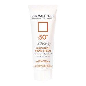 ضد آفتاب بی رنگ هیدرا مناسب پوست خشک +SPF50 درماتیپیک