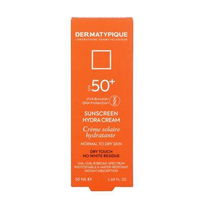 ضد آفتاب بی رنگ هیدرا مناسب پوست خشک +SPF50 درماتیپیک | ۵۰ میلی لیتر