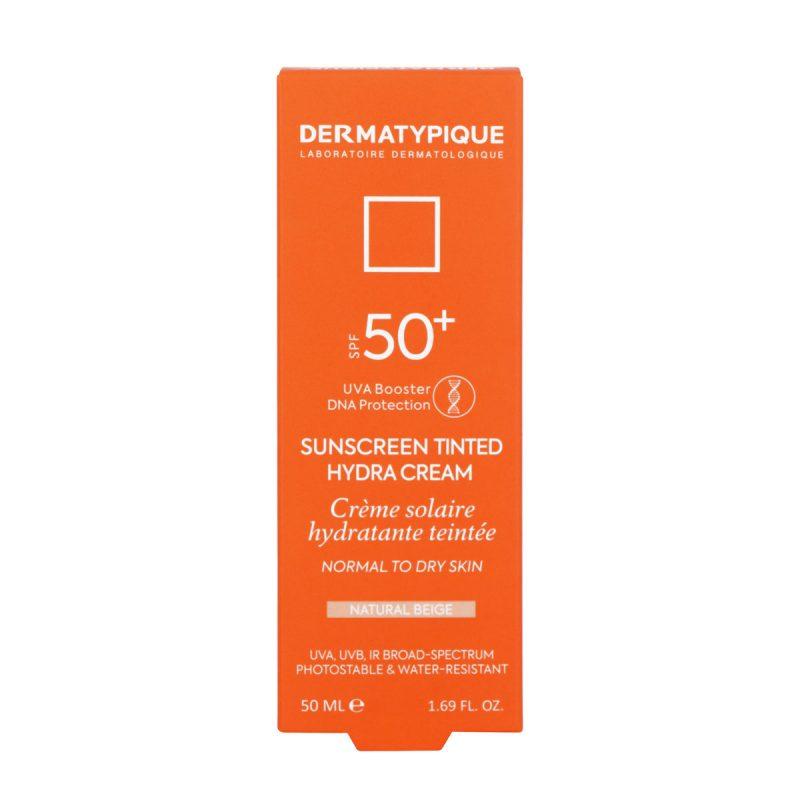 ضد آفتاب رنگی هیدرا بژ طبیعی مناسب پوست خشک +SPF50 درماتیپیک 50 میلی لیتر