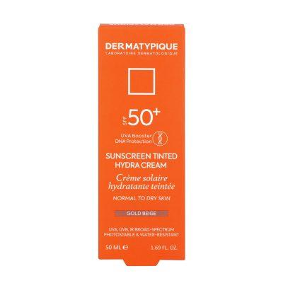 ضد آفتاب رنگی هیدرا گلد بژ مناسب پوست خشک +SPF50 درماتیپیک | ۵۰ میلی لیتر