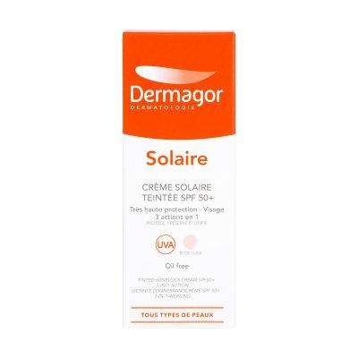 ضد آفتاب رنگی  ۳ در ۱ +SPF50 درماگور | ۴۰ میلی لیتر | محافظت کامل