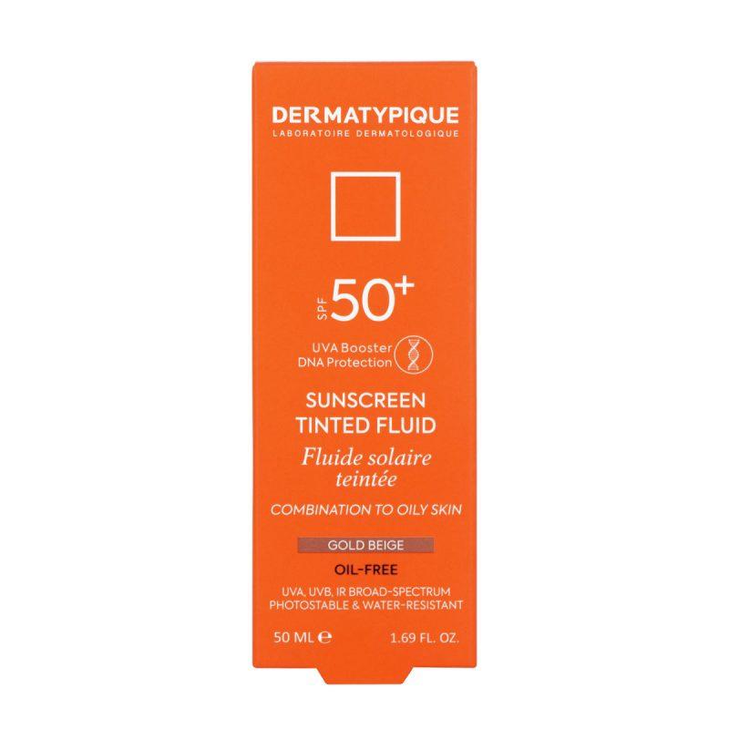 ضد آفتاب فلویید گلد بژ پوست مختلط و چرب +SPF50 درماتیپیک 50 میلی لیتر