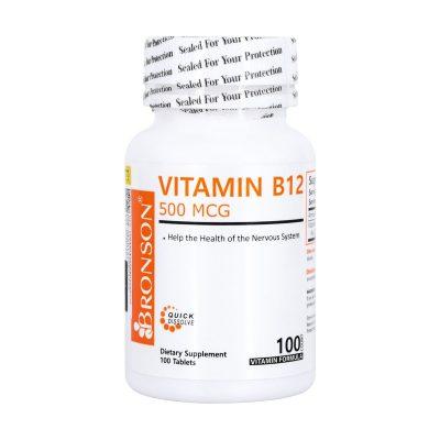 قرص ویتامین B12 برانسون | ۱۰۰ عدد |بهبود عملکرد سیستم عصبی