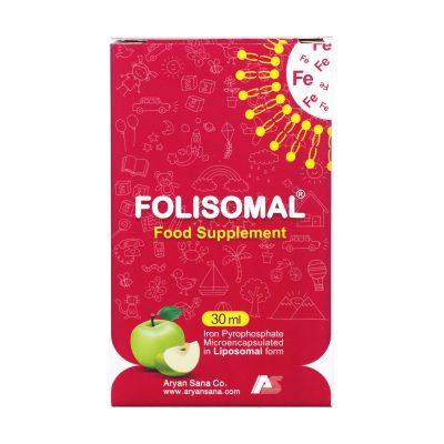 قطره آهن فولیزومال آریان سنا | ۳۰ میلی لیتر | جلوگیری از کم خونی در کودکان