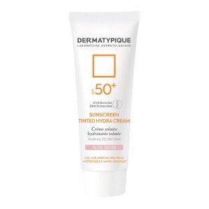 ضد آفتاب رنگی هیدرا رز بژ مناسب پوست خشک +SPF50 درماتیپیک