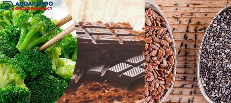تخم کتان، چیا، شکلات تلخ، بروکلی در سلامت قلب و عروق