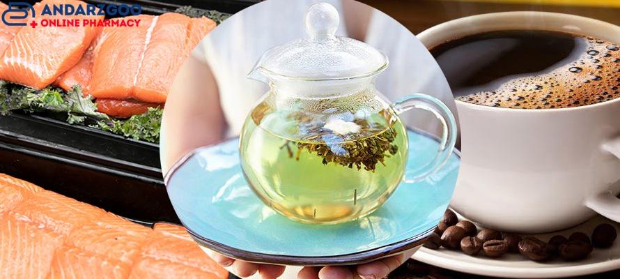 قهوه، ماهی، چای سبز مفید برای سلامت قلب